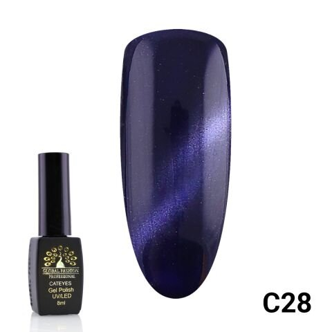 Гель-лак кошачий глаз Cat Eyes Global Fashion C28, 8 мл